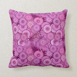 Modelo del remolino, púrpura, rosa, ciruelo, lila cojín