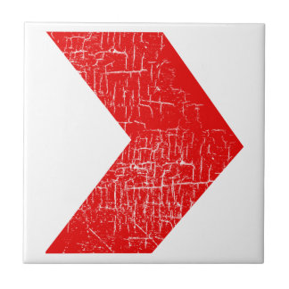 modelo del rojo de las flechas azulejo cuadrado pequeño