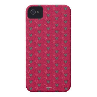 Modelo del rojo de Mickey Mouse Case-Mate iPhone 4 Fundas