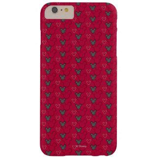 Modelo del rojo de Mickey Mouse Funda De iPhone 6 Plus Barely There