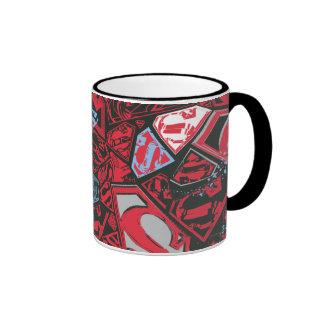 Modelo del rojo de Supergirl Stary Taza A Dos Colores