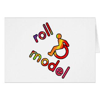 Modelo del rollo - camisetas de la incapacidad - e tarjeta de felicitación