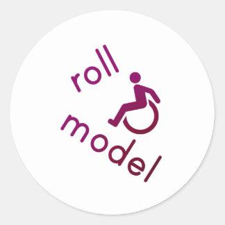 Modelo del rollo - camisetas de la incapacidad - etiqueta redonda
