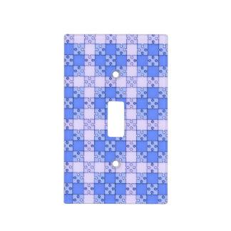 Modelo del rompecabezas, azul cubiertas para interruptor