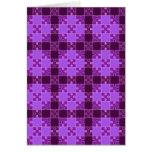 Modelo del rompecabezas, púrpura tarjeta