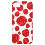 Modelo del rosa rojo en blanco iPhone 5 carcasas