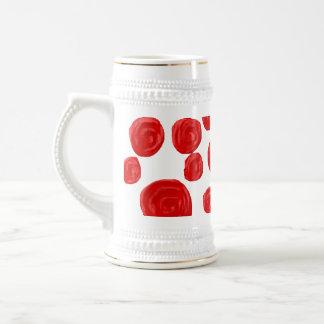 Modelo del rosa rojo taza de café