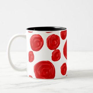 Modelo del rosa rojo taza de dos tonos