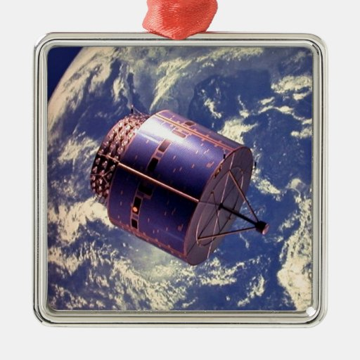 Modelo del satélite en espacio ornaments para arbol de navidad