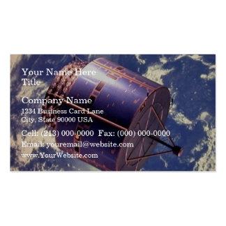 Modelo del satélite en espacio tarjetas personales