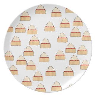 Modelo del Scone del atasco y de la crema Plato De Cena