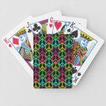 modelo del signo de la paz del Hippie de los años  Baraja Cartas De Poker