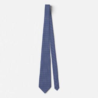 Modelo del signo de la paz en azul de medianoche corbatas personalizadas