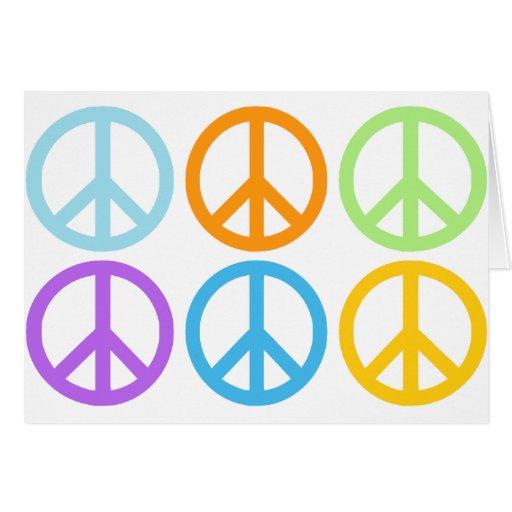 Modelo del signo de la paz tarjeta de felicitación