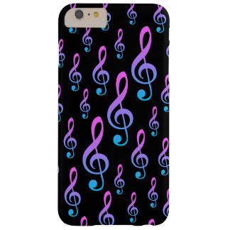 Modelo del símbolo de la notación musical del Clef Funda Barely There iPhone 6 Plus