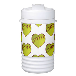 Modelo del softball del amor refrigerador de bebida igloo
