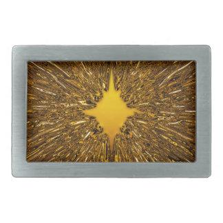 Modelo del starburst del oro hebilla de cinturón rectangular