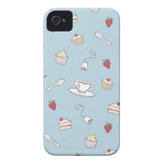 """Modelo del té de tarde"" iPhone 4 Case-Mate Coberturas"