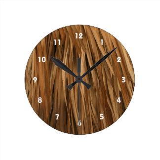 Modelo del tejado de la fronda de Brown Reloj Redondo Mediano