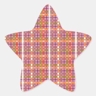 Modelo del Tela-en-Africano-Violeta-Fondo Pegatina En Forma De Estrella