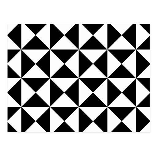 Modelo del Tessellation del triángulo correcto Tarjetas Postales