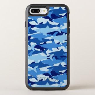 Modelo del tiburón azul funda OtterBox symmetry para iPhone 7 plus