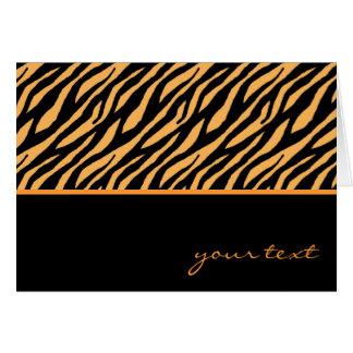 Modelo del tigre tarjeta pequeña