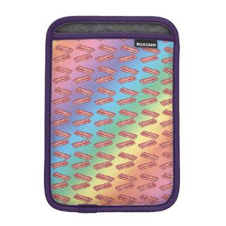 Modelo del tocino del arco iris fundas de iPad mini