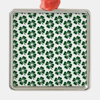 Modelo del trébol de cuatro hojas ornamentos para reyes magos