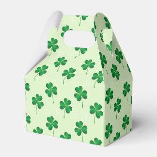 modelo del trébol de las hojas del irlandés tres caja para regalo de boda