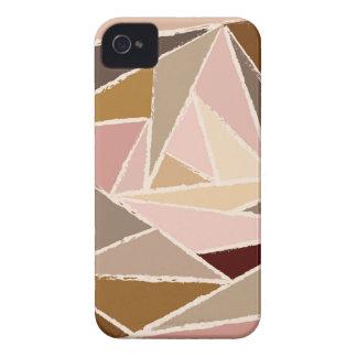 Modelo del triángulo de Brown del vintage iPhone 4 Carcasas