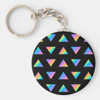 Modelo del triángulo del multicolor llavero redondo tipo pin