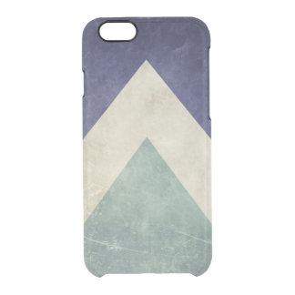 Modelo del triángulo del vintage funda clear para iPhone 6/6S