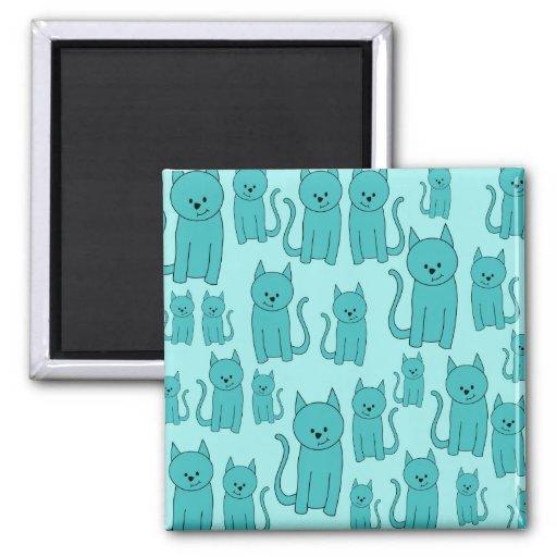 Modelo del trullo de gatos lindos imán cuadrado