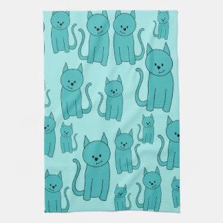 Modelo del trullo de gatos lindos toallas de cocina