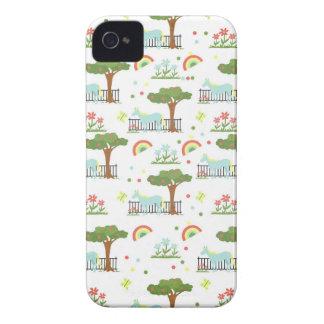 Modelo del unicornio del jardín Case-Mate iPhone 4 fundas
