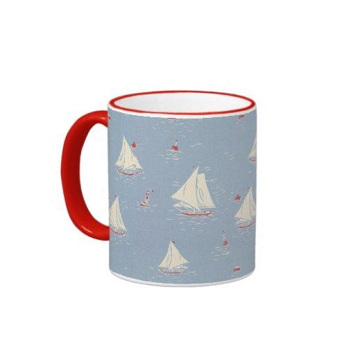 Modelo del velero taza a dos colores