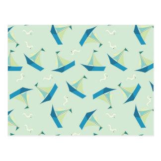 Modelo del velero y de la gaviota tarjeta postal
