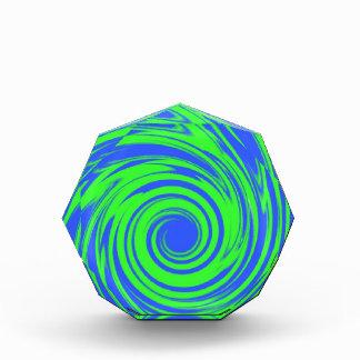 Modelo del verde azul de pavo real