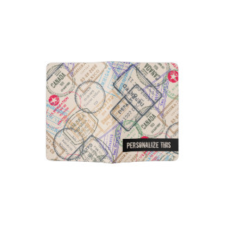 Modelo del viaje de los sellos del pasaporte porta pasaporte