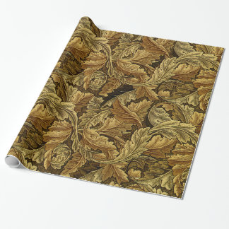 Modelo del vintage de William Morris de las hojas Papel De Regalo