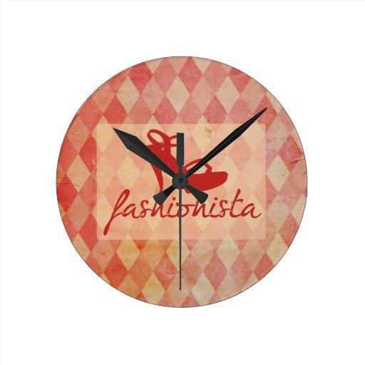 Modelo del vintage del fashionista reloj de pared