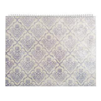 Modelo del vintage - imagen 11 (violeta y blanco) calendario de pared