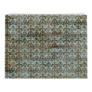 Modelo del vintage - imagen 9 (marrón y azul) calendarios de pared