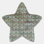 Modelo del vintage - imagen 9 (marrón y azul) pegatina en forma de estrella