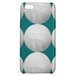 Modelo del voleibol en verde de la aguamarina o cu