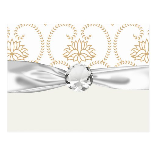modelo delicado del damasco del loto del remolino tarjetas postales