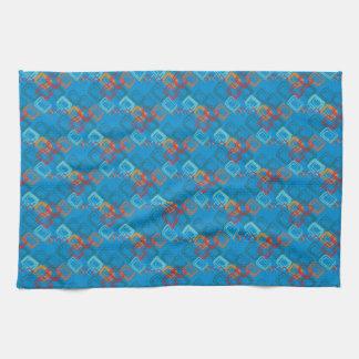 Modelo deportivo brillante azul de la célula de la toallas de cocina