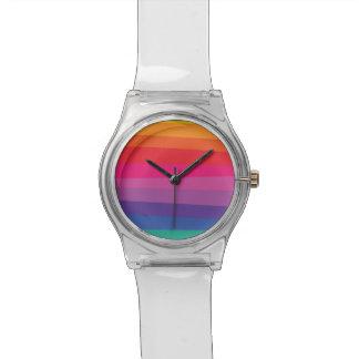 Modelo desigual del arco iris reloj