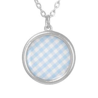 Modelo diagonal azul claro de la guinga joyerias personalizadas